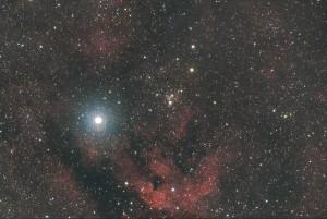 Gamma Cygne et IC1318 - Cygne